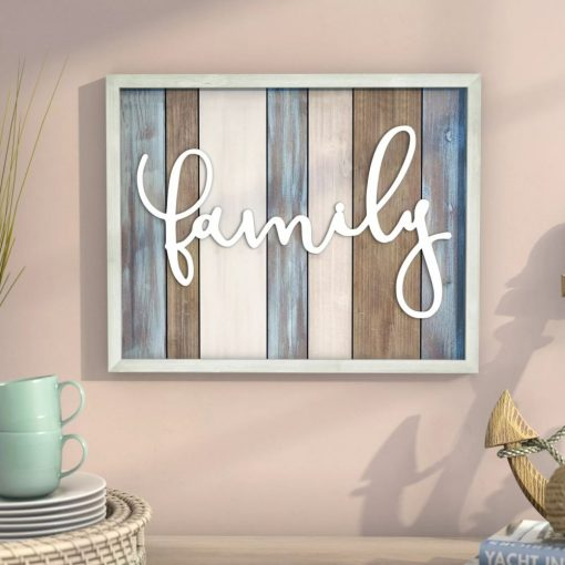 spanx distressed multi surface family wood wall décor