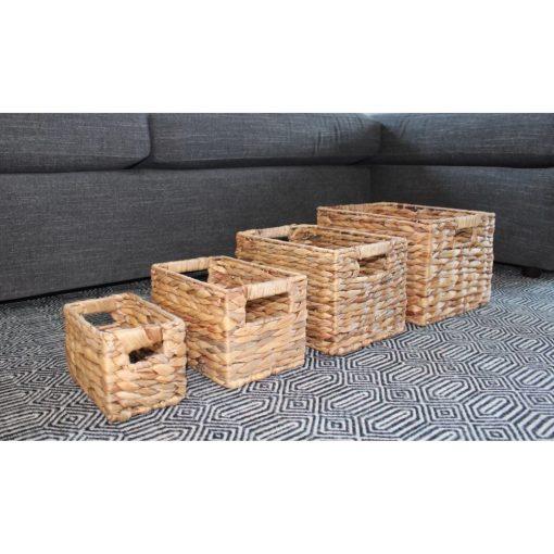 sydney brown handcrafted 4 piece wicker basket set