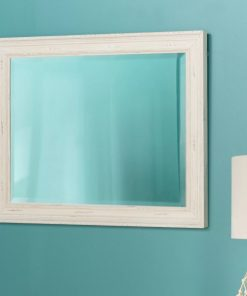 sylvie wood rectangle wall mirror