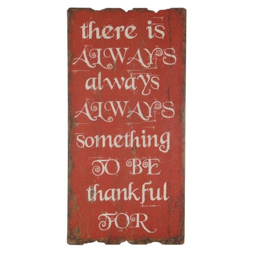 there is always something to be thankful for wood wall décor