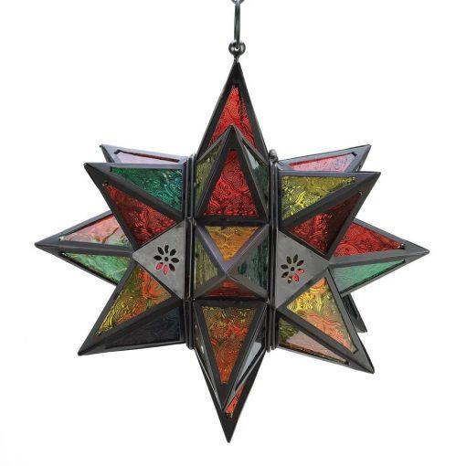 tigresa charming jewel tone moroccan style star lantern