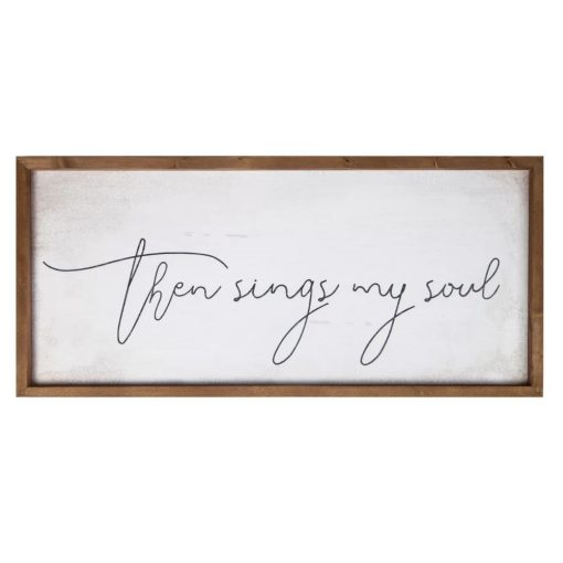 tigresa distressed then sings my soul farmhouse wall décor