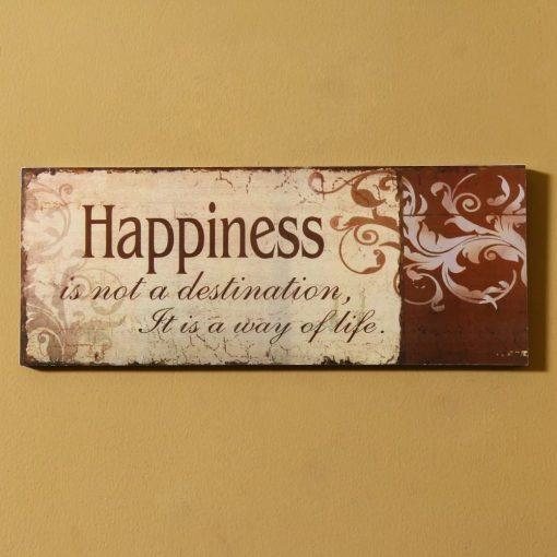 tirana distressed happiness wood wall décor
