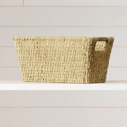tobin honey brown wicker basket