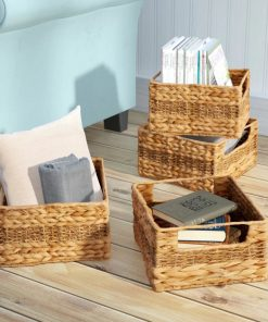 trudy natural brown 4 piece wicker basket set