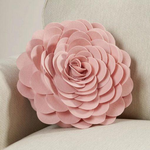 valentina floral applique design 100 polyester throw pillow