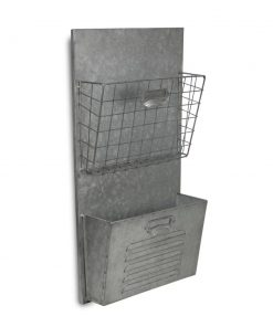 viola galvanized metal wall storage organizer with wall baskets
