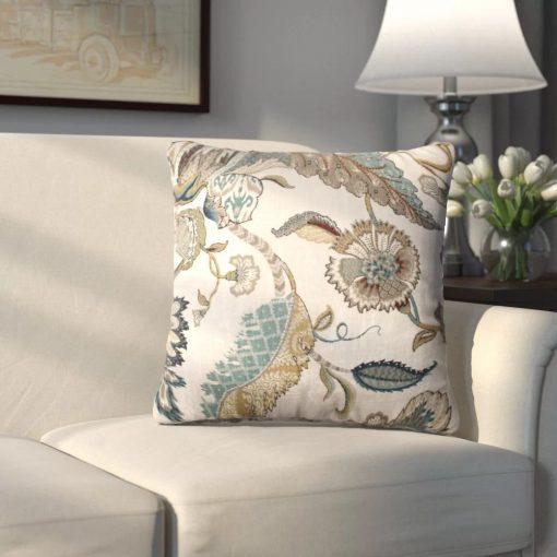 vivaldi beige 100 cotton throw pillow
