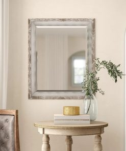 willa rectangle plastic shabby elegance wall mirror