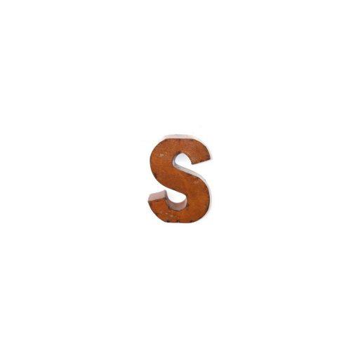 winslow rustic brown metal letter block