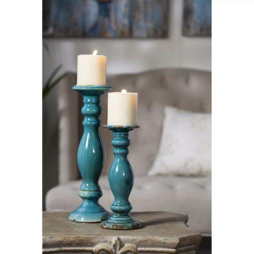 yumi-teal-distressed-ceramic-candlestick