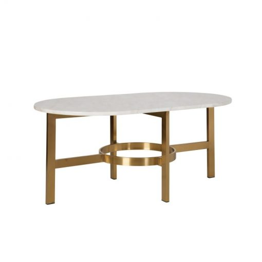adler marble oval table top in antique brass base