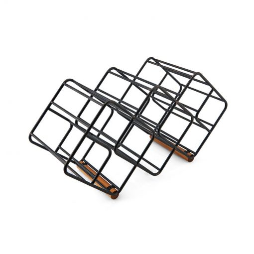 aimee 12 bottle square designs metal tabletop wine rack