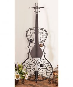 alexandra eclectic metal 26 bottle cello wine rack