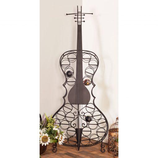 alexandra eclectic metal 26 bottle cello wine rack