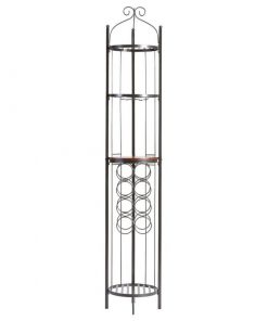 alinta 8 bottle metal wine storage tower