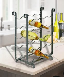 amelia 20 bottle hammered steel wine rack