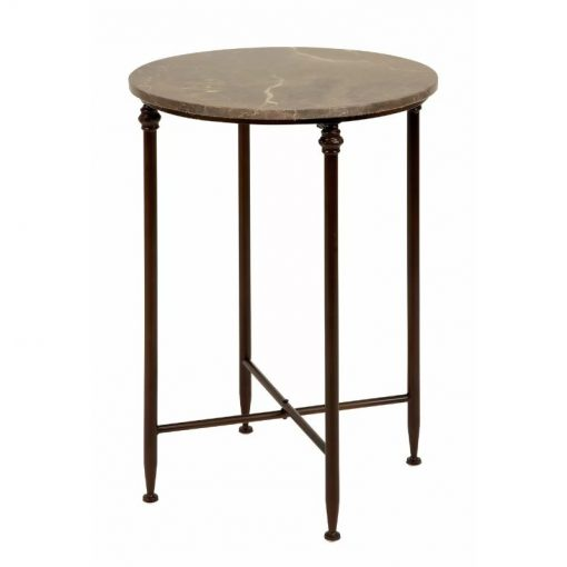 asha circular marble tabletop with neutral legs end table