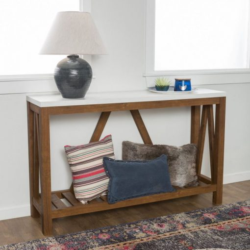 avery a frame rustic entry console table
