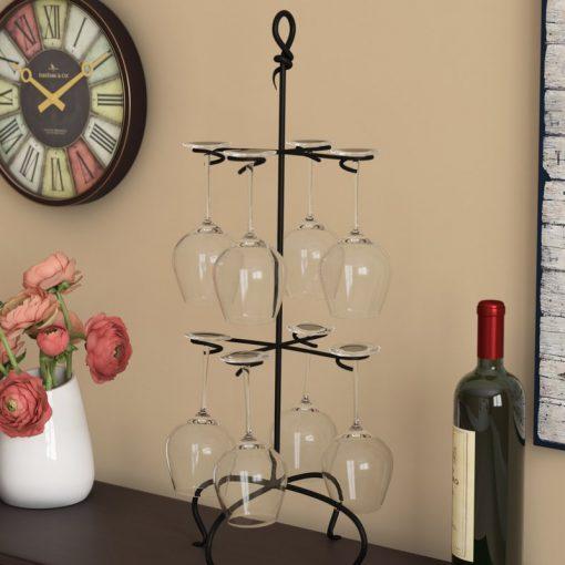bethann 8 glass metal tabletop wine rack