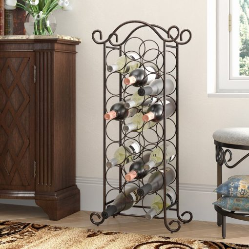 bobbie 20 floor metal wine rack