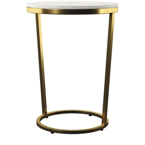 bodhi round marble tabletop with golden metal frame