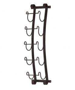 callan wall mount 5 bottle wine rack in black