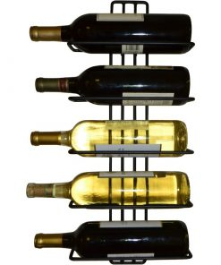 carmen 5 bottle wall mounted wine rack