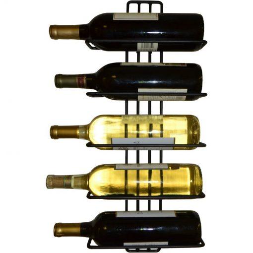 carmen 5 bottle wall mounted wine rack