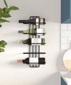 armen 5 bottle wall mounted wine rack