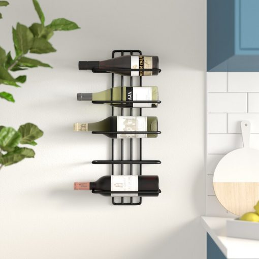 armen 5 bottle wall mounted wine rack