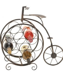 carolyn vintage bicyclette 7 bottle tabletop wine rack