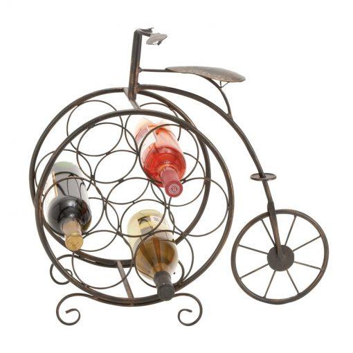 carolyn vintage bicyclette 7 bottle tabletop wine rack