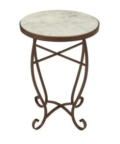 colina ivory marble tabletop and metal frame end table