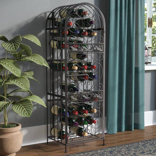 cooper antique bronze 45 bottle floor metal wine rack