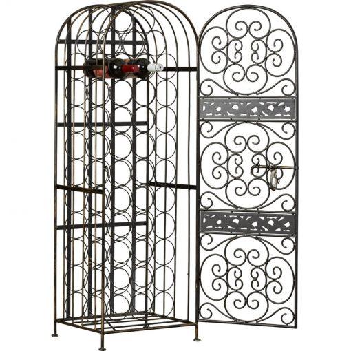 cooper antique bronze 45 bottle floor metal wine rack1