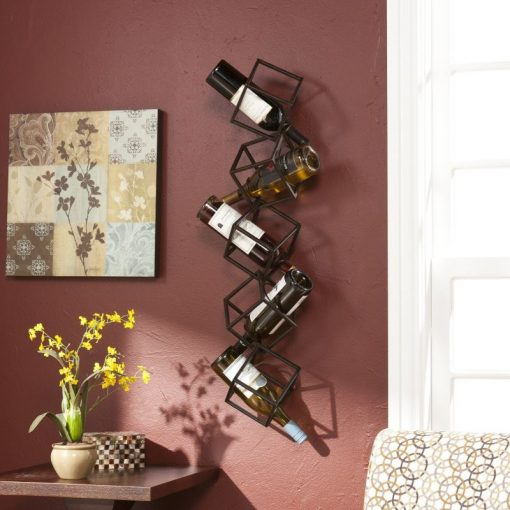 diane forsythia stacking cube wall mounted wine rack