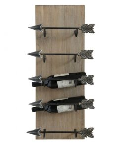 dionne arrow 5 bottle wall mounted wine holders