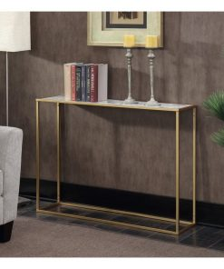 eberjey gold coast faux marble console table