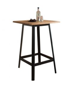 edith bar table in natural and black