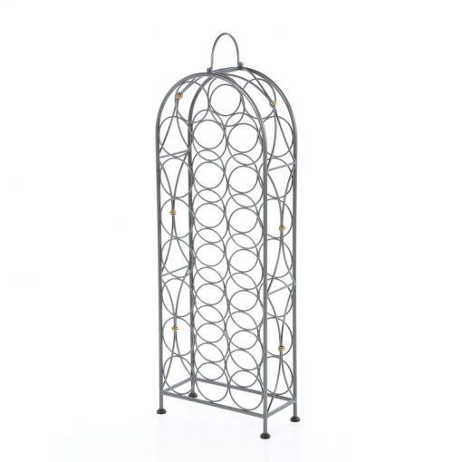 elisabeth 23 bottle holders floor pewter metal wine rack stand