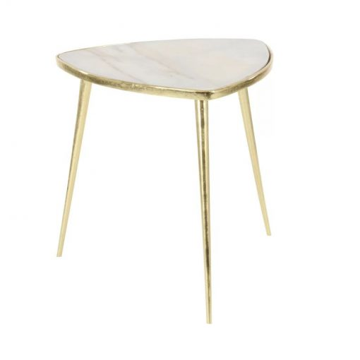 elsie aluminum marble end table