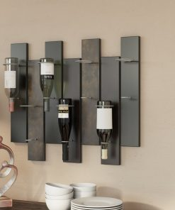 emma offset panel wall wine bottle holder