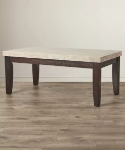 encanta rectangle marble top cocktail table
