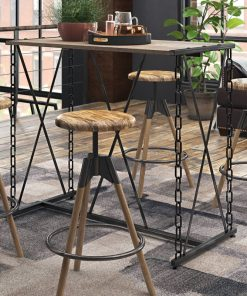 ethan unique metal frame and signature chain styled legs bar table