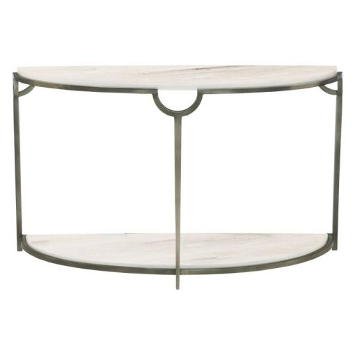 garrison demilune metal console table