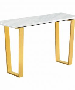 hanya contemporary rectangular marble table top and stainless steel base
