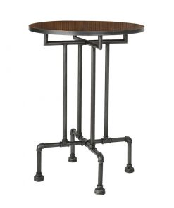 isadora pine table top and industrial pipe base pub table