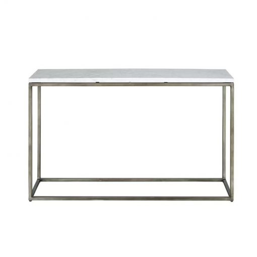 jacquin marble top and welded steel base console table