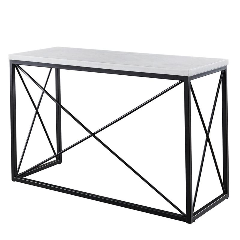 Janou Rectangle White Marble Top And